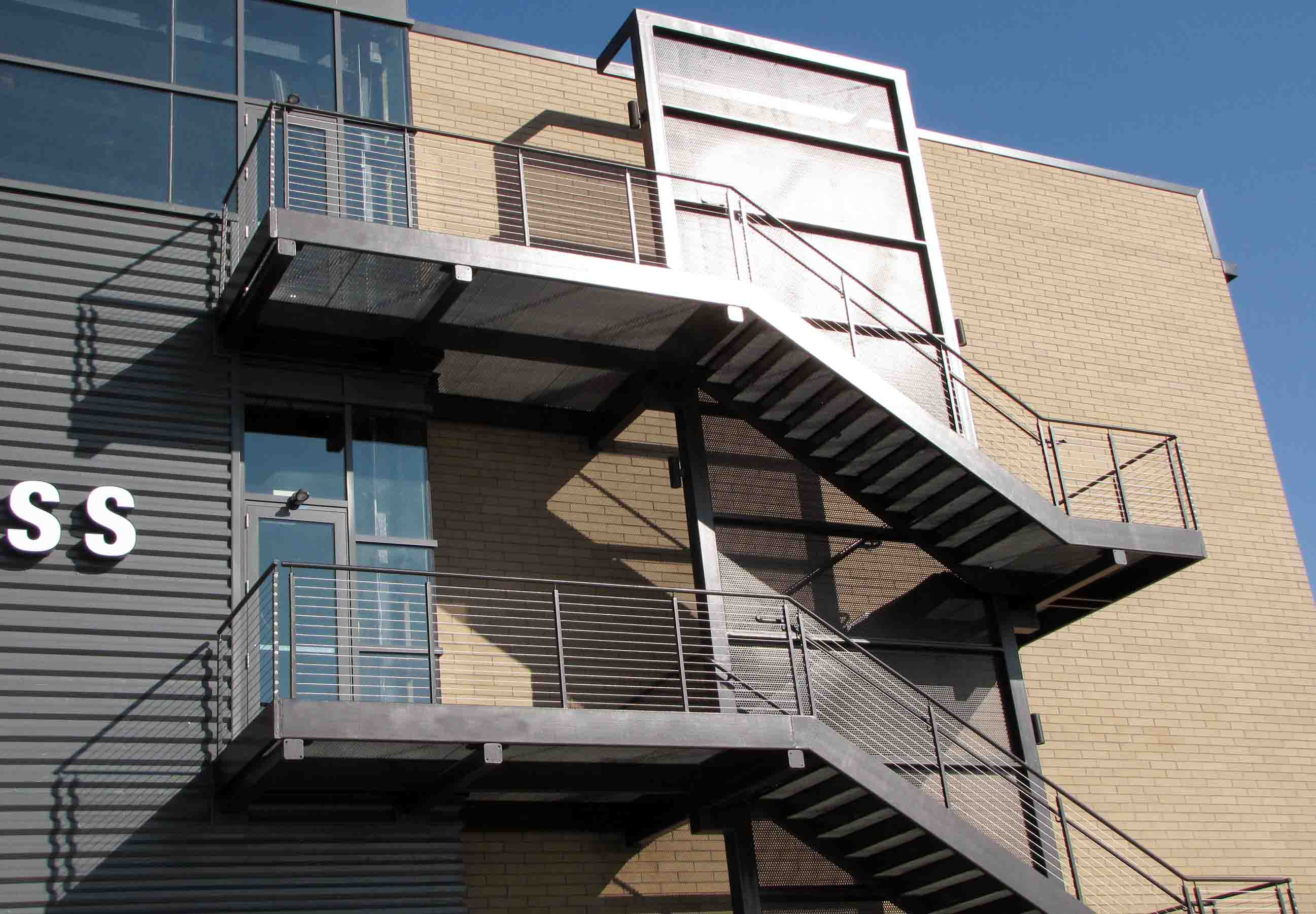 Fire escape staircases - Exterior metal spiral staircase cost ...